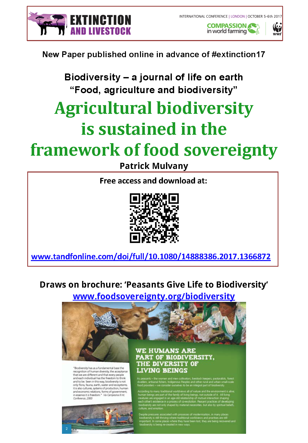 Agricultural biodiversity is sustained in the framework of food sovereignty